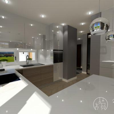 Holló Annamária lakberendező referencia - konyha 3D - Kifinomult luxus