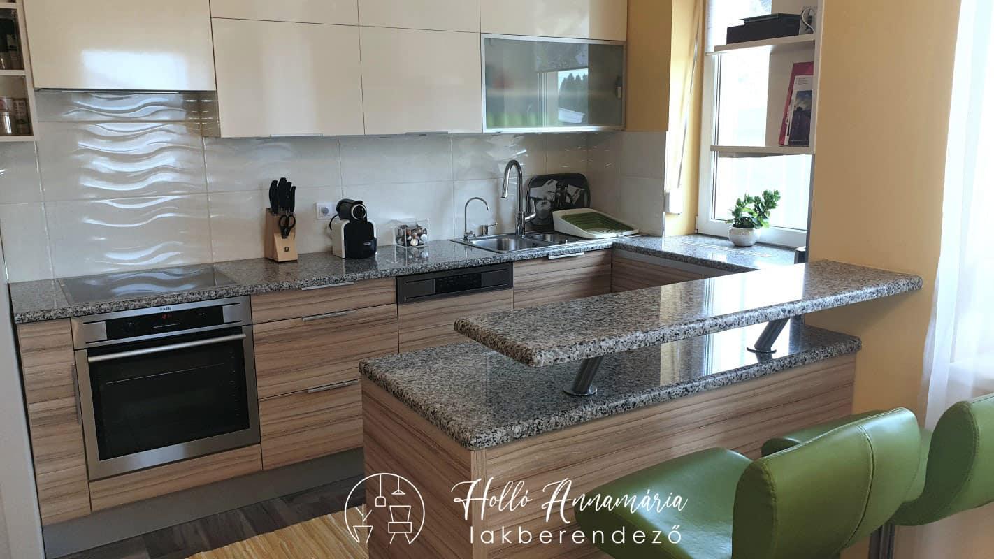 Holló Annamária lakberendező referencia - konyha - Modern családi ház
