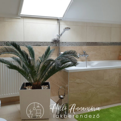 Holló Annamária lakberendező referencia - fürdőszoba - Modern családi ház