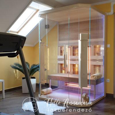 Holló Annamária lakberendező referencia - fitness szoba - Modern családi ház