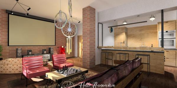Loft stílusú férfi lakás