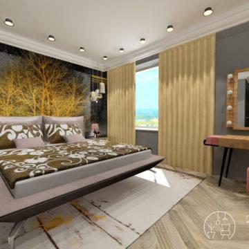 Kreatív lakberendezés hálószoba bútorokkal és kiegészítőkkel